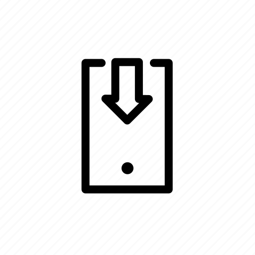 Arrow, down, download, phone icon - Download on Iconfinder
