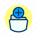 add, document, file, folder, storage icon