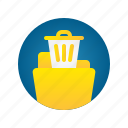 bin, delete, document, file, folder, storage, trash