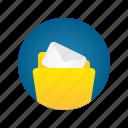 document, file, folder, letter, mail, storage