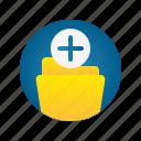 add, document, file, folder, storage