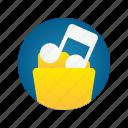 document, file, folder, music, storage