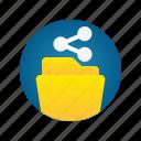 document, file, folder, share, storage icon