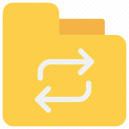 arrow, data, document, exchange, file, folder icon