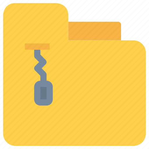 document, file, folder, management, zip icon