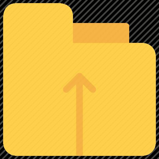 arrow, document, file, folder, upload icon