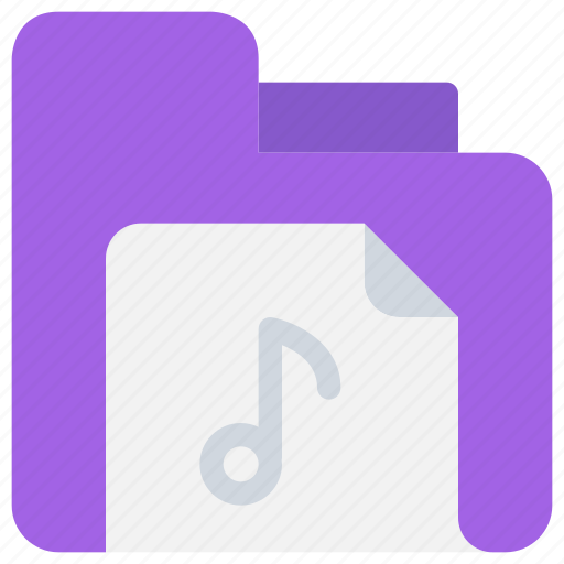 document, file, folder, media, music, song, sound icon