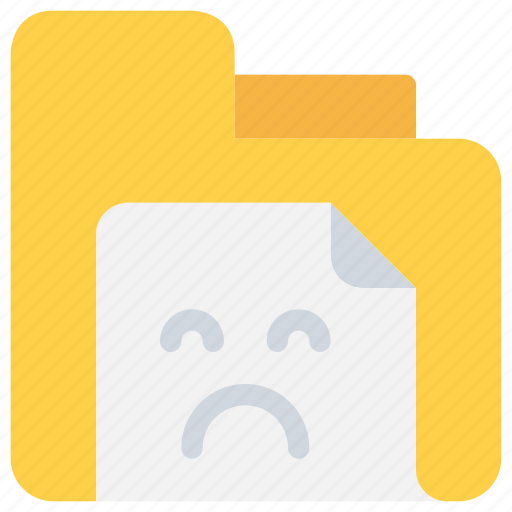 bad, document, file, sad, status icon