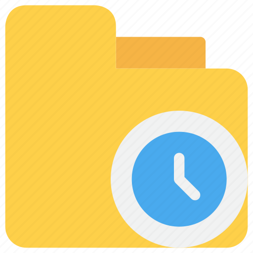 document, file, management, time, timer icon