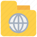 document, file, folder, global icon