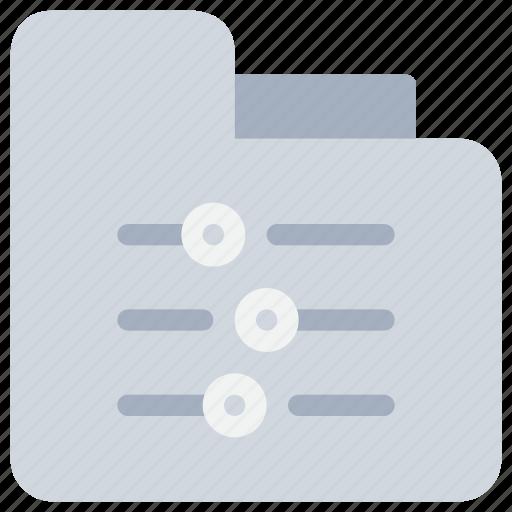 control, document, file, folder, option icon