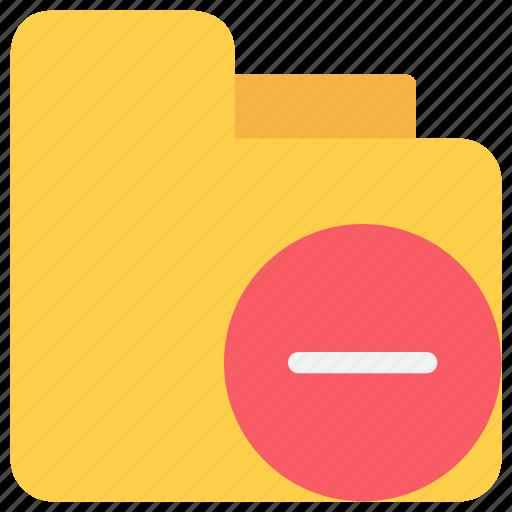 document, file, folder, remove icon