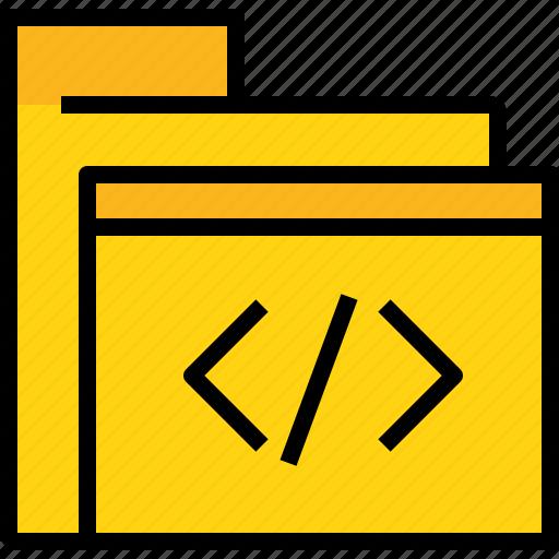 code, document, file, folder icon