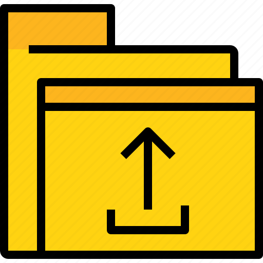 archive, business, data, document, file, folder, upload icon