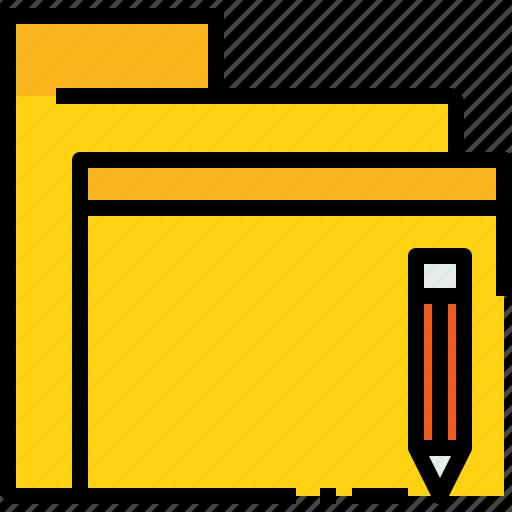 archive, business, data, document, file, folder, write icon