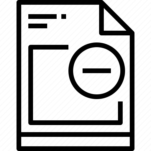 business, file, page, paper, remove, report icon