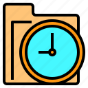 business, document, folder, information, office, paper, time icon