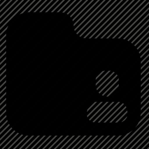 Folder, shared, filled, user, share icon - Download on Iconfinder