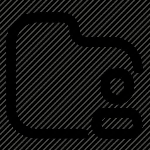 Folder, shared, outlined, document, user icon - Download on Iconfinder