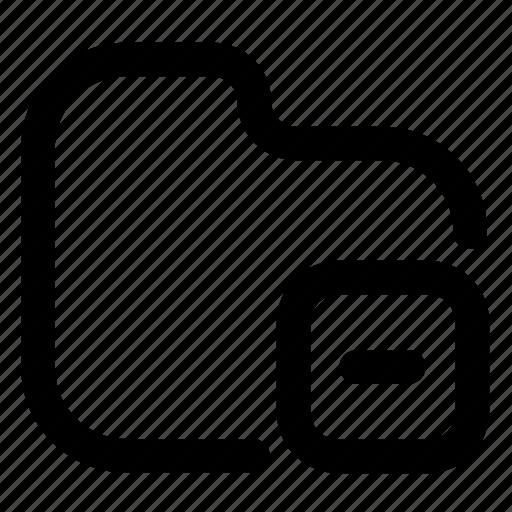 Folder, remove, outlined, minus, delete icon - Download on Iconfinder