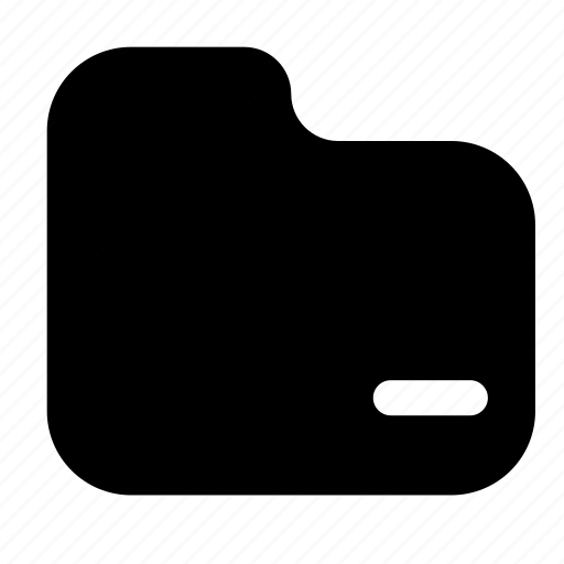 Remove, folder, filled, minus, delete icon - Download on Iconfinder