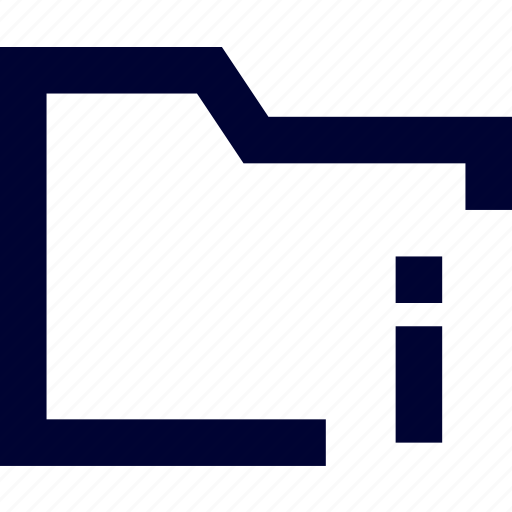 archive, directory, document, file, folder, folder info, storage icon