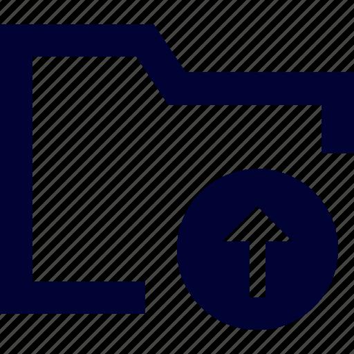 archive, directory, document, file, folder, storage, upload folder icon