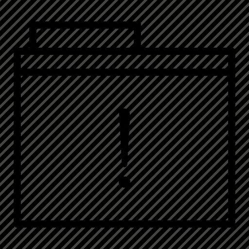 caution, document, error, folder, notice, warning icon