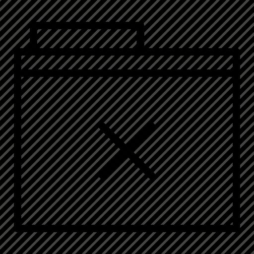 close, document, folder, remove icon