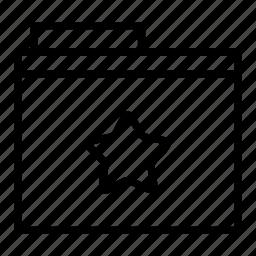 document, favourite, folder icon