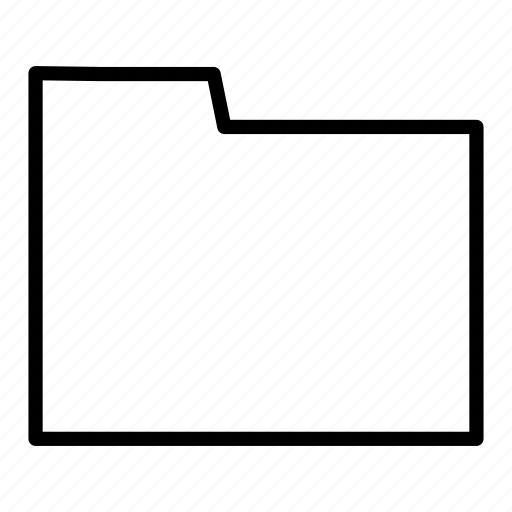 blank, document, folder icon