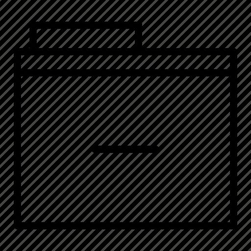 delete, document, folder, remove, subtract icon