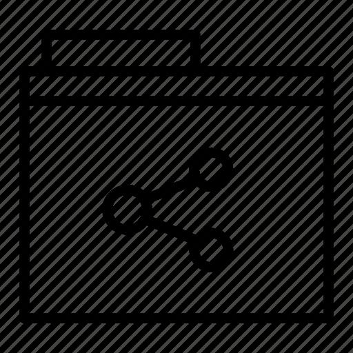 document, folder, share icon