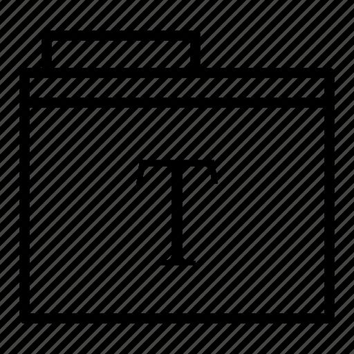 document, folder, text, type, write icon