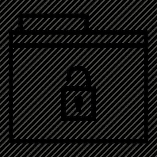 document, folder, unlock icon