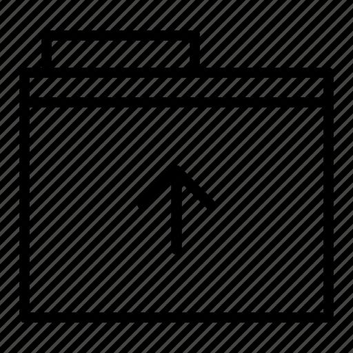 document, folder, upload icon