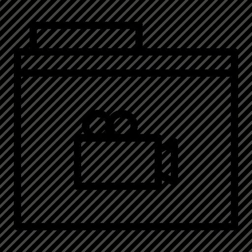 document, folder, movie, video icon