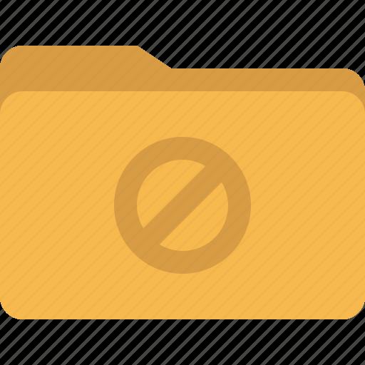 block, document, folder, forbidden icon