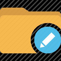 directory, document, edit, folder icon
