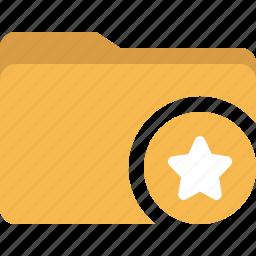 document, favorite, folder, star icon