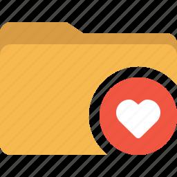 document, folder, heart, like, love icon