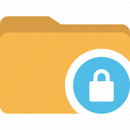 document, folder, lock, security icon