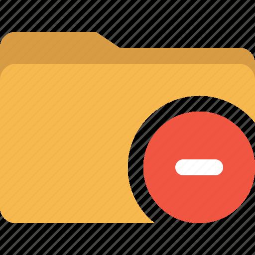document, folder, minus, remove icon