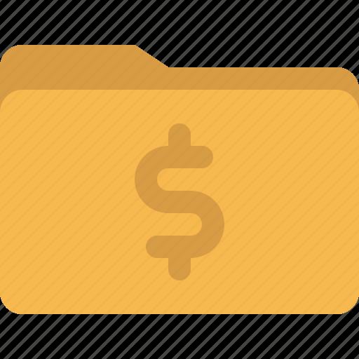 document, dollar, finance, folder, money icon