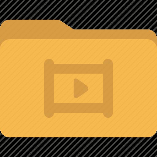 document, film, folder, media, movie, play icon