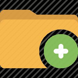 add, document, folder, plus icon