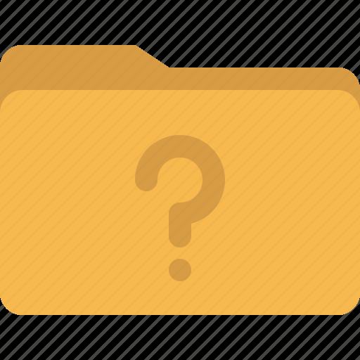 document, faq, folder, question, unknown icon