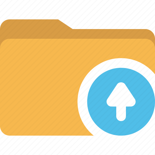arrow, document, folder, upload icon