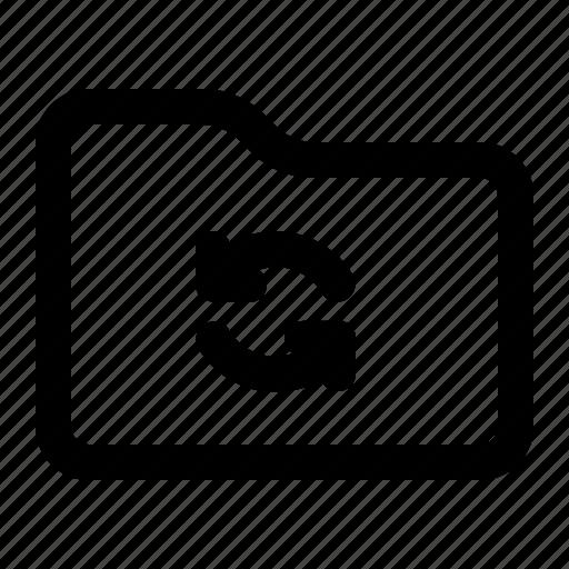 document, folder, sync, synchronize icon