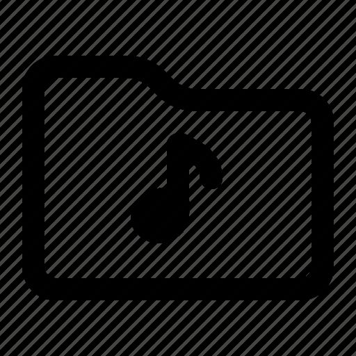 document, folder, music, note icon
